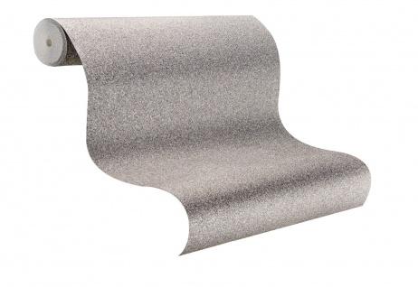 Vlies Tapete silber mit gold uni Struktur Hochwertige Qualität Steinoptik 8803-4