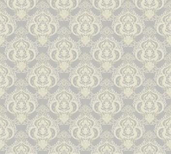 Vliestapete Barock Ornament creme grau metallic Großrolle 10, 05 x 1, 06 m 36453-6