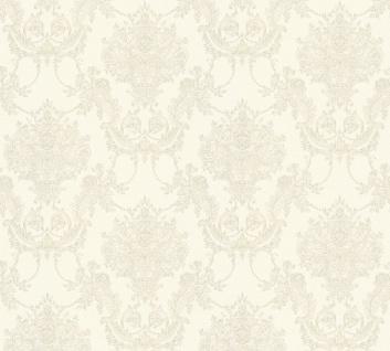 Vlies Tapete Barock Ornament creme grau glanz metallic 34492-3 Chateau 5