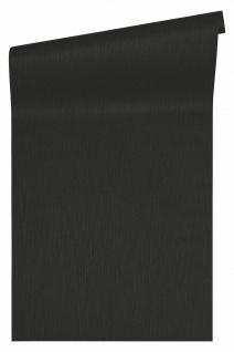 Versace 4 Luxus Uni Textil Optik Vlies Tapete schwarz metallic 343273