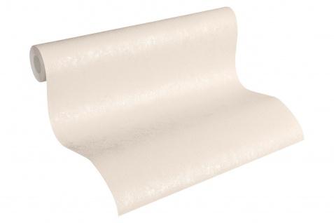 Vliestapete Uni Struktur glanz creme silber 33544-5 Hermitage einfarbig