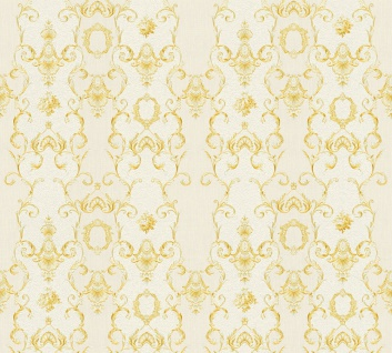 Vlies Tapete Ranken Barock Ornament creme gold weiß glanz 34392-1 Chateau 5