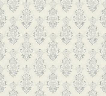 Vliestapete Barock Ornament weiß grau metallic Großrolle 10, 05 x 1, 06 m 36453-3