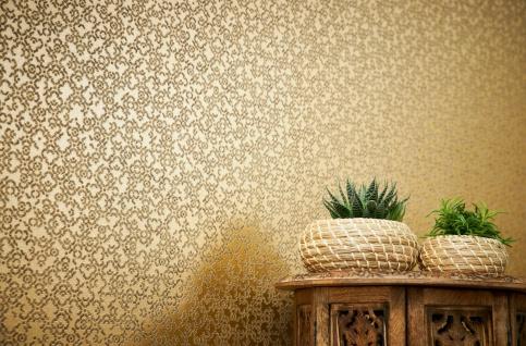 Vliestapete marokkanisches Grafik Muster gold braun metallic 37866-1