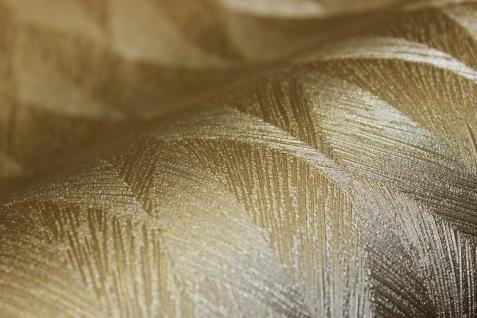 Guido Maria Kretschmer Vliestapete Gold metallic Glanz Federn Struktur 10049-30 - Vorschau 3