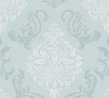 Vliestapete Barock Ornament Glitzer mint grün 95372-5 Memory 3