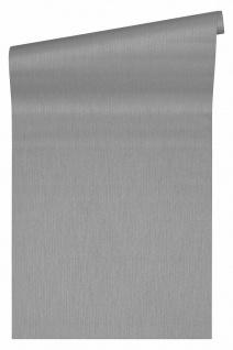 Versace 4 Luxus Uni Textil Optik Vlies Tapete grau metallic 343274