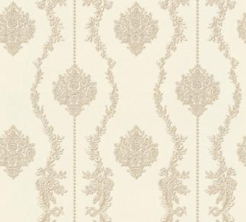 Vlies Tapete Barock Ornament Streifen creme beige metallic 34493-1 Chateau 5