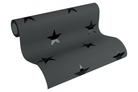 Vliestapete Sterne schwarz Sternchen Tapete METROPOLIS Michalsky Living