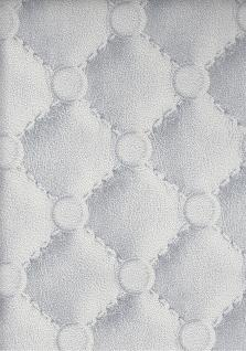 Vlies Tapete Leder Polster Chesterfield Optik grau silber 42513-20 leather - Vorschau 1