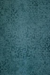 Krakelee Struktur Vliestapete petrol blau Ornamente Craquelé Toscana 642-05 - Vorschau 2