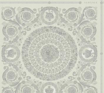Versace 4 Vlies Tapete Florales Ornament Kacheln grau silber metallic 370555