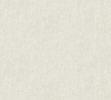 Vliestapete Uni Struktur weiß grau Großrolle 10, 05 x 1, 06 m 36455-2 Melange