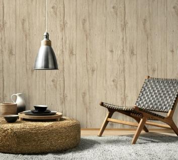 Vlies Tapete Antik Holz rustikal beige verwittert shabby landhaus 6357-02