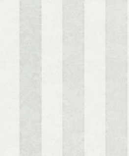 Vlies Streifentapete Textil Optik seidenglanz meliert creme weiß 45227 Feeling