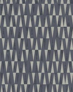 Vliestapete Carat stilvolle Dreiecke schwarz weiß gold glänzend Glitzer 10061-15