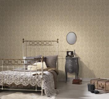 Vliestapete Barock Ornament creme grau metallic Großrolle 10, 05 x 1, 06 m 36453-6 - Vorschau 2