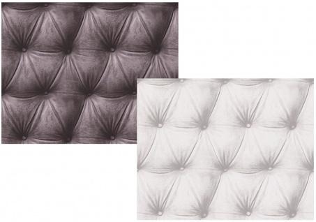 Vlies Tapete Design Leder Muster Optik Samt grau braun, weiss grau, edel Polster