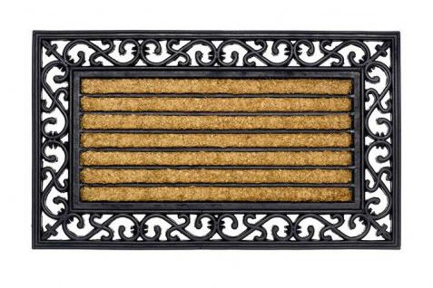 Gummi Kokos Fußmatte rechteckig Impala 45 x 75 cm Schmutzfangmatte Fußabtreter