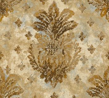 Vliestapete Boho Florales Ornament beige gold metallic Vintage 36456-1