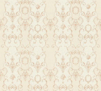 Vlies Tapete Ranken Barock Ornament creme beige glanz 34392-4 Chateau 5