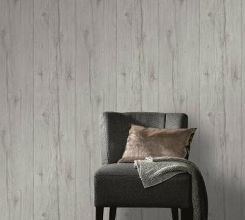 Vlies Tapete Antik Holz rustikal grau bretter verwittert shabby landhaus 6357-31