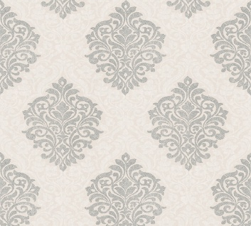 Vliestapete Barock Ornament beige silber glanz Architects Paper Alpha 32480-3