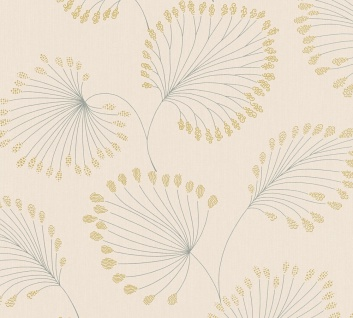 Vlies Tapete Blätter creme gold metallic Architects Paper AP Alpha 33371-2