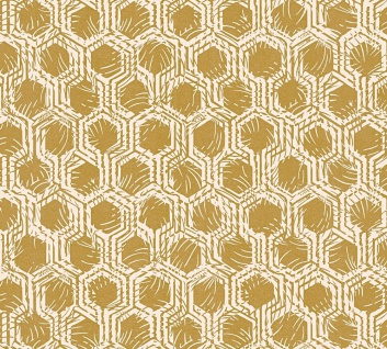 Vliestapete Waben Grafik gold grau metallic Architects Paper Alpha 33327-3