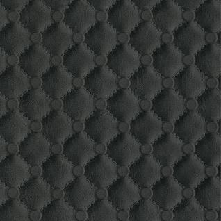 Vlies Tapete Leder Polster Chesterfield Optik schwarz 42513-10 leather
