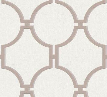 Vlies Tapete Vintage Grafik Kreise creme braun 36149-3 Elegance 5th Avenue