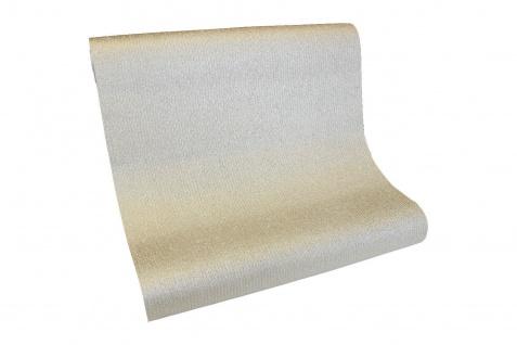 Vlies Tapete Uni Struktur einfarbig weiß gold metallic glanz glitzer AL1008-5