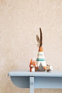 Vliestapete elegante Holz Optik beige 218041 Essentials royal wood Ethno Tapete