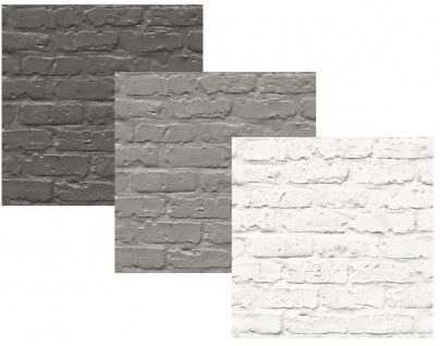 Vlies Tapete Bruchstein Naturstein Muster Mauer Klinker anthrazit grau weiß
