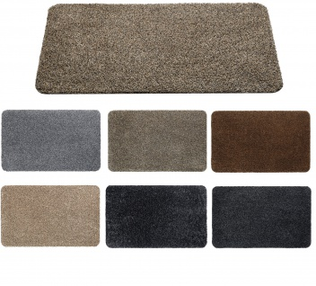 Fußmatte Aquastop Schmutzfangmatte 50 x 80 cm Bodenmatte waschbar versch. Farben