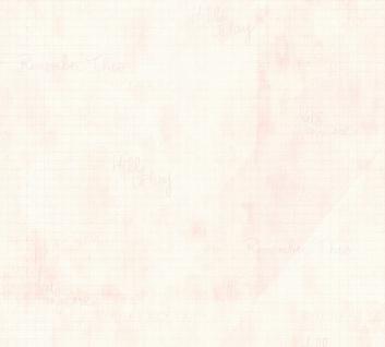 Vlies Tapete Landhaus Karo Muster grafisch Schrift rosa rose 35877-1 Djooz 2