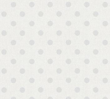Vliestapete Punkte creme grau gepunktet Textik Optik 36148-2 Elegance 5th Avenue