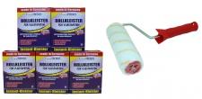 5 x Rollkleister 200 g = 1 Kg für Vliestapeten Vlieskleister + Kleisterrolle