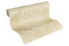 Luxus Vliestapete Barock Ornament creme beige glanz metallic 34143-3 Hermitage