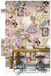 Vlies Foto Tapete Vintage Blumen Ballerina Wandbild 200 x 300 cm DI 2018