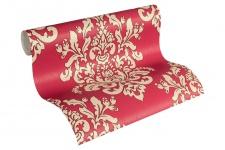 Luxus Vliestapete Barock Ornament rot beige glanz metallic 34143-5 Hermitage