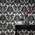 Vlies Tapete Barock Muster Ornament schwarz weiß silber klassisch Neo Barock