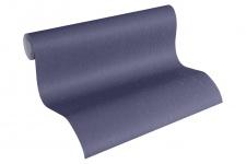 Luxus Vliestapete Uni blau 34276-7 Hermitage einfarbig