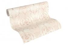 Luxus Vliestapete klassischer Barock creme rosa metallic 33083-5 Hermitage