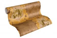 Luxus Vliestapete Barock Leoparden braun gold Ornamente klassisch 33543-3