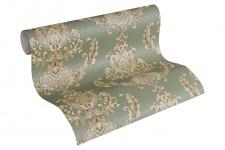 Luxus Vliestapete Floral Barock grün gold 33546-4 metallic Hermitage