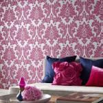 Vlies Tapete Barock Muster Ornament metallic effekt pink silber grau klassisch