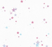 Esprit Kids 5 Tapete weiß Sterne blau lila pink 35696-3 / 356963
