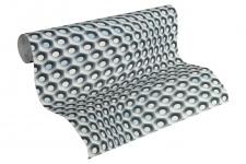 Vliestapete Retro 3D silber grau Grafisch Waben Design by Mac Stopa 32707-2