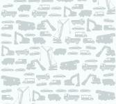 Kinder Vliestapete Bagger LKW Autos weiß grau 35815-1